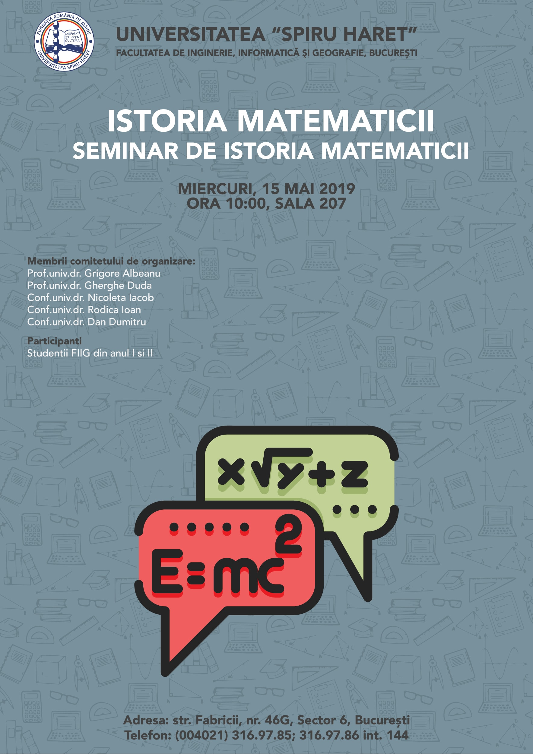 Workshop Studentesc - Istoria Matematicii